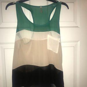 Flowy multi color blouse